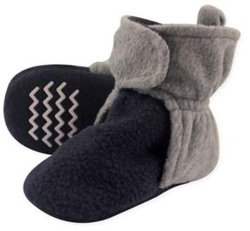 Fleece Scooties Sock in Navy/Grey