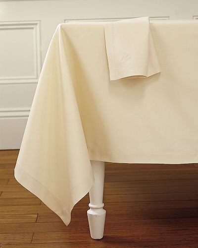 Hotel Tablecloths, Ivory