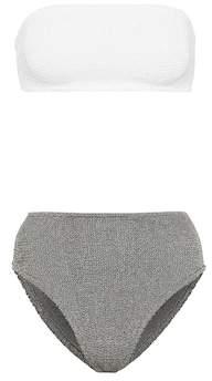 Hunza G Exclusive to Mytheresa – Gabrielle bikini top and Posey bikini bottoms