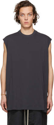 Rick Owens Grey Tarp Sleeveless T-Shirt