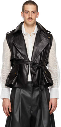 Palomo Spain Black Leather Vest