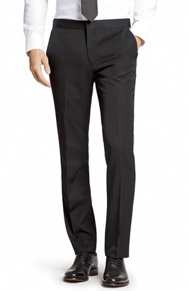 Men's Bonobos Flat Front Wool Tuxedo Trousers $250 thestylecure.com
