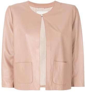 L'Autre Chose cropped leather jacket