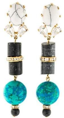 Lele Sadoughi Crystal & Resin Drop Earrings