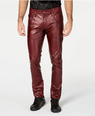 INC International Concepts I.N.C. Men's Faux Leather Skinny Jeans, Created for Macy's