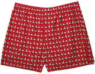 Vineyard Vines Santa Whale Tree Boxer Shorts Men's Underwear