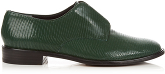 ROBERT CLERGERIE Jamo lizard-effect leather slip-on shoes $477 thestylecure.com