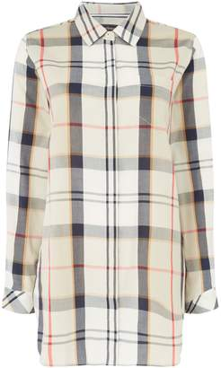 Barbour Long Sleeve Checked Leathen Shirt