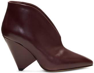 Isabel Marant Burgundy Adenn Boots