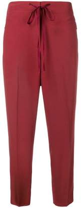 Bottega Veneta piped cropped trousers