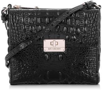 d5c4670e9c ... Brahmin Melbourne Manhattan Croc Embossed Leather Crossbody Bag