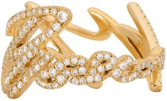 Stephen Webster Yellow Gold and Pave Diamond More Passion Ring