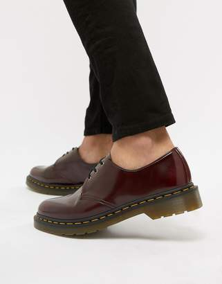 Dr. Martens (ドクターマーチン) - Dr Martens faux leather 1461 3-eye shoes in red