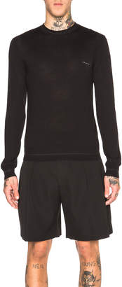 Givenchy Crew Neck Patch Jumper