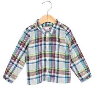 Bonpoint Girls' Plaid Button-Up Top $45 thestylecure.com