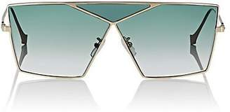 Loewe Women's Puzzle Large Sunglasses - Pale Gold And Gradient Turquoise
