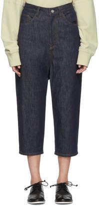 Y's Ys Indigo Gusset Drop Jeans