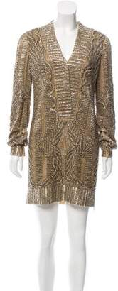 Emilio Pucci Embellished Silk Dress