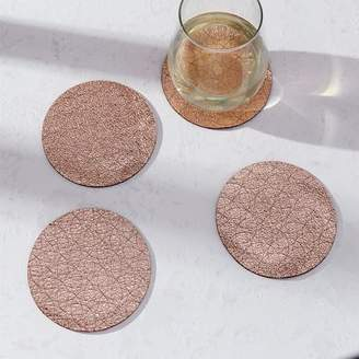 west elm Molly M Leather Coasters (Set of 4)