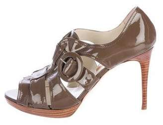 Rupert Sanderson Patent Leather Multistrap Sandals