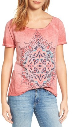Women's Lucky Brand Geo Floral Tee $39.50 thestylecure.com