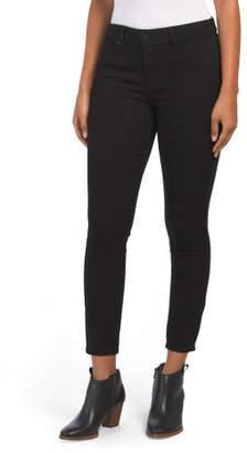 Petite Hight Waist Back Flap Pocket Skinny Jeans