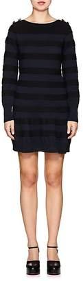 Sacai Women's Raised-Stripe Cotton Sweaterdress
