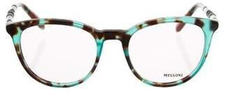Missoni Tortoiseshell Round Eyeglasses
