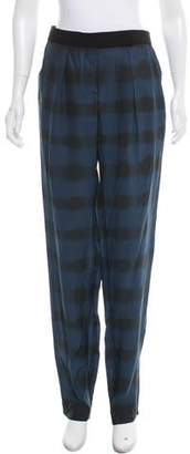 Cédric Charlier Mid-Rise Silk Pants