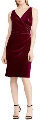 Ralph Lauren Velvet Faux-Wrap Dress - 100% Exclusive