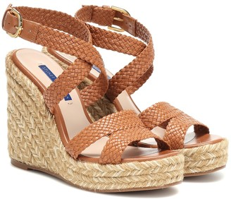 Stuart Weitzman Elsie leather wedge espadrilles