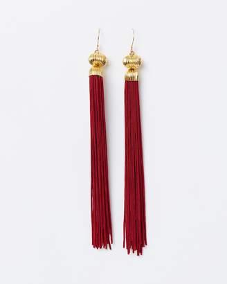 Rosa Superlong Tassel Earrings