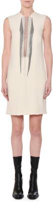 Stella McCartney Sleeveless Shift Dress w/ Multi-Chain Inset