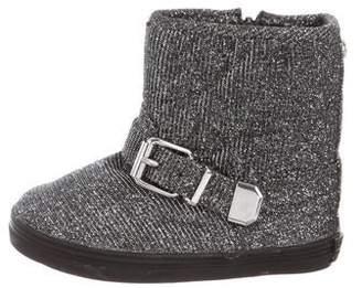 Stuart Weitzman Girls' Glitter Ankle Boots