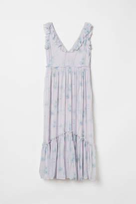 H&M Long Flounced Dress - Pink