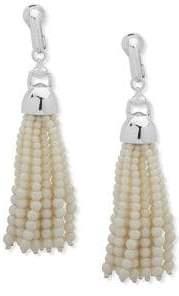 Lauren Ralph Lauren Faux Pearl and Crystal Fringed Drop Earrings