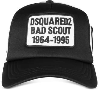 DSQUARED2 Black and White Bad Scout Baseball Cap