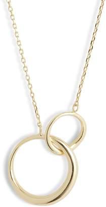 Argentovivo Interlocking Rings Pendant Necklace