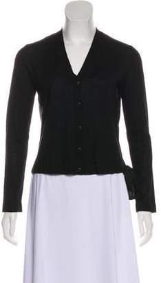 Miu Miu Virgin Wool-Blend Cardigan