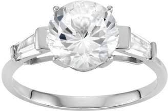 100 Facets Of Love 100 Facets of Love 10k White Gold Lab-Created White Sapphire Engagement Ring