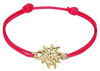 Elli Women's 925 Sterling Silver Gold Plated Xilion Cut Bracelet Of Length 17 cm
