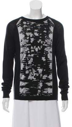 Reed Krakoff Cashmere-Blend Printed Sweater