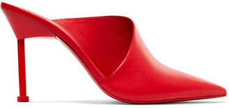 Mercedes Benz Castillo - Emiko Leather Mules - Red
