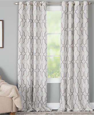 "Alain Miller Curtains 50"" x 84"" Geo-Print Energy-Efficient Window Panel"