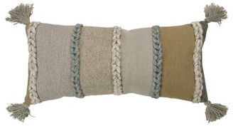 """Rizzy Home RIZZY HOME NATURAL 80% WOOL 20% COTTON 14""""X26"""" DECORATIVE PILLOW COVER"""