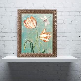 Trademark Fine Art Tulips Ablaze I Ornate Framed Wall Art