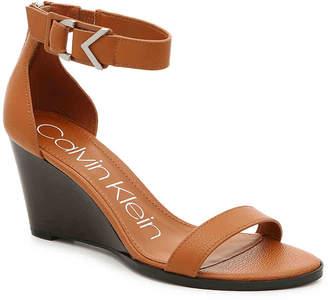 Calvin Klein Wilhelmina Wedge Sandal - Women's