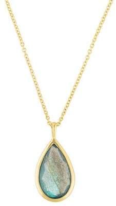 Ippolita 18K Labradorite & Blue Topaz Doublet Medium Teardrop Pendant Necklace