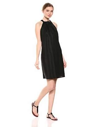 28 Palms 100% Linen Halter Shift Dress Casual,(EU S - M)
