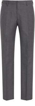 Prada Slim-Fit Houndstooth Wool And Mohair-Blend Pants
